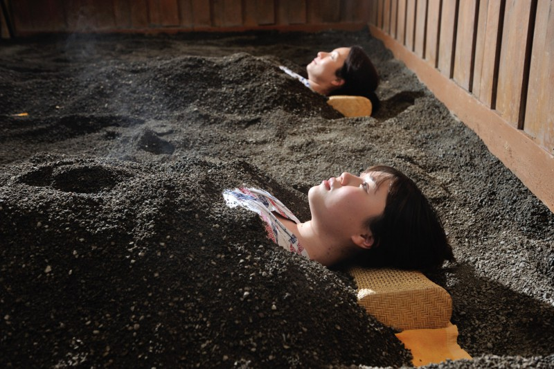 【Sand Bath 】 No hotel in Izu have the Sand bath except our hotel.
